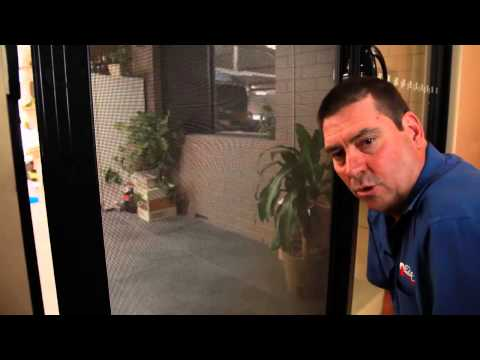 Sliding Security Door: adjusting and installing Rollers