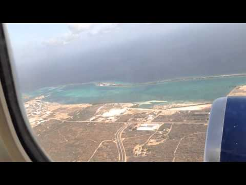 Airplane takeoff from Aruba