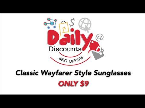 Classic Wayfarer Style Sunglasses | Ray Ban Style Sunglasses