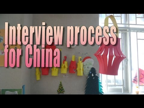 How to do a Demo lesson over Skype and interview for a job in China