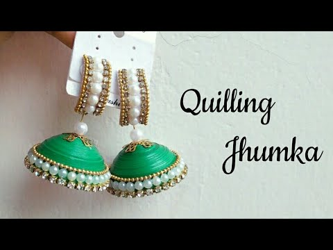DIY Quilling Jhumka/How to make Quilling Jhumka Earrings