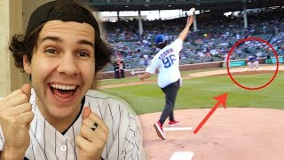 I THREW OUT THE FIRST PITCH AT THE CUBS GAME!!