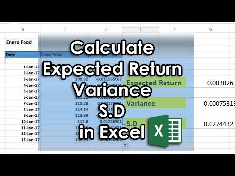 How to Calculate Expected Return, Variance, Standard Deviation in Excel from Stocks/Shares