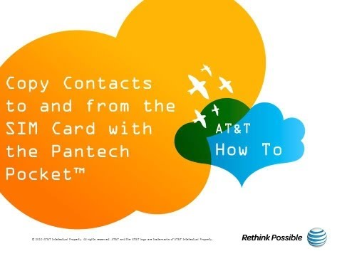Copy Contacts to and from the SIM Card with the Pantech Pocket™: AT&T How To Video Series