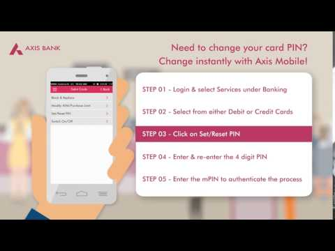 Change PIN using Axis Mobile