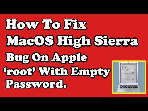 How To Fix MacOS High Sierra Bug On Apple Laptop | Stop Login as 'root' with Empty Password