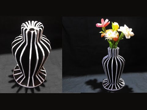How To Make Flower Vase With Newspaper and Cardboard  / DIY Flower Vase / Best Out Of Waste