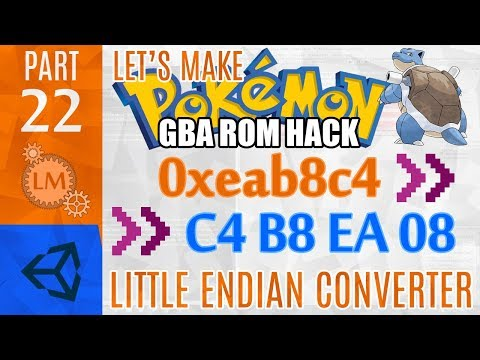 How To Make a Pokémon Rom Hack GBA Part 22 ⚙ Creating A Little Endian Hex Converter with Unity & C#