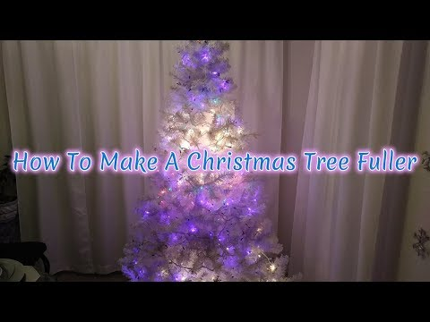 How To Make A Christmas Tree Fuller 🎄