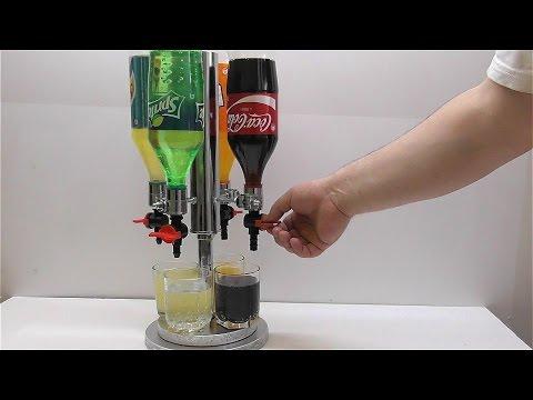 How to make a dispenser for Coca Cola Fanta Schweppes Sprite