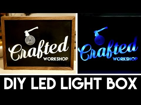 DIY Light Box Sign with LASERS! | How To Build