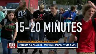 Parents fighting for later high school start times