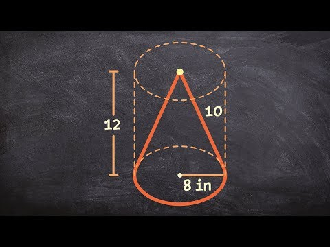 Learn how to determine the volume of a cone