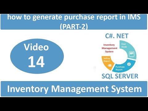 how to generate purchase report in IMS (PART-2)