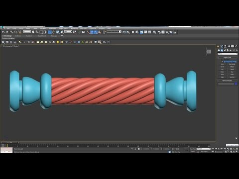 Create a twisted column in 3d max