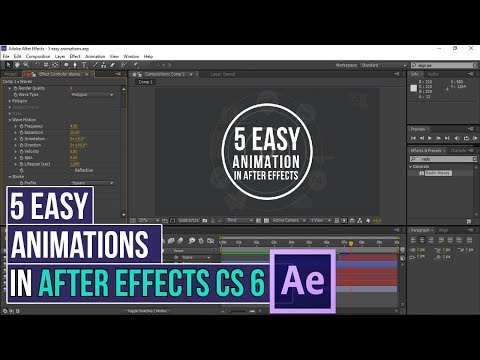 How To Create 5 Easy Animations in After Effects CS 6