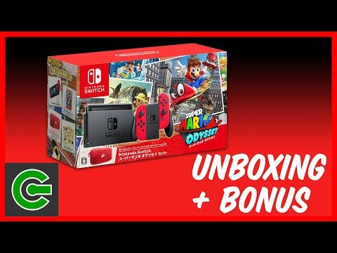 Nintendo Switch Super Mario Odyssey Japanese Console Unboxing