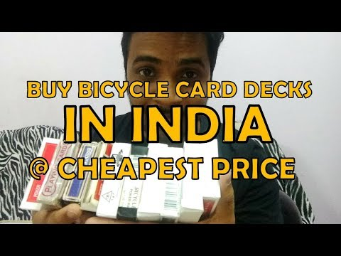 Cheapest Bicycle decks in India for magic (hindi)| Best playing cards in India| hindi