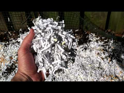 Shredded Paper for Compost or Mulch