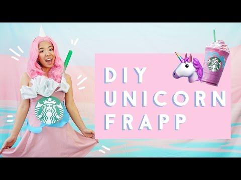 ✂ DIY Starbucks Unicorn Frappuccino Costume