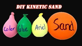 Making Kinetic Sand with Balloons Challenge! No DIY Slime