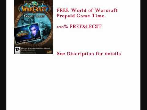 Free World of Warcraft Prepaid Game Time