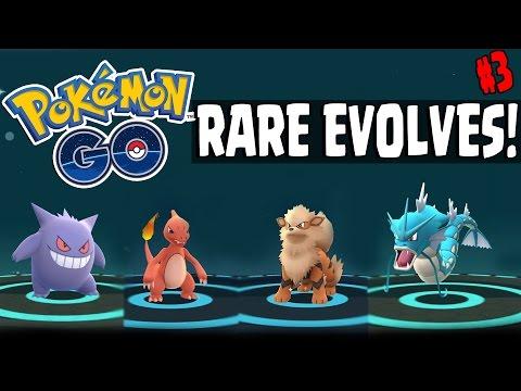 Pokemon GO   HIGH CP & RARE POKEMON EVOLUTIONS - Gengar, Charmeleon, Arcanine, Gyarados & More!