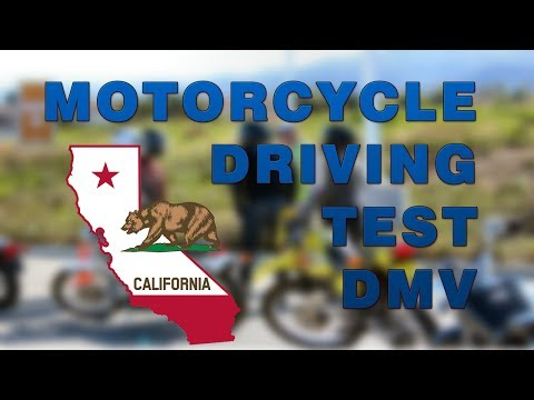 California Motorcycle REAL DMV FULL Driving Test (2017)