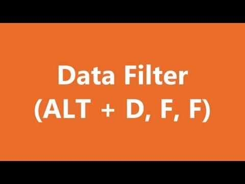 Excel Shortcuts - Data Filter