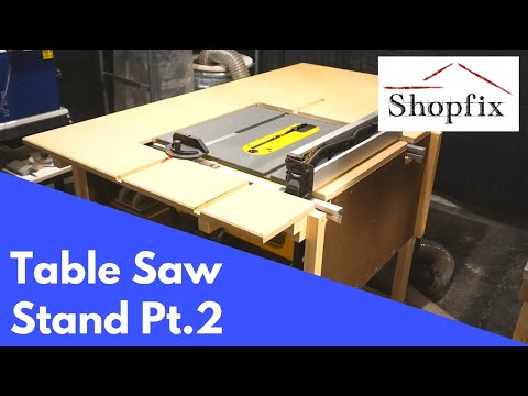 How to Build a Table Saw Stand Pt.2