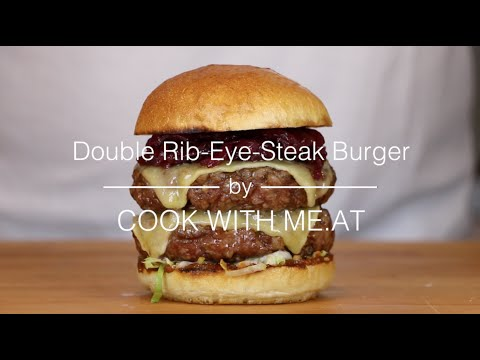 Double Rib Eye Steak Burger - Grilled on the Napoleon TravelQ PRO - COOK WITH ME.AT