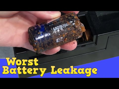 Worst battery leakage I've ever seen!  Casio CT 380