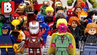 Every LEGO Marvel Superhero Minifigure Ever Made!!!