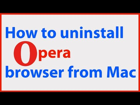 How to completely remove uninstall delete Opera browser app from Mac launchpad?