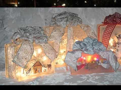 Easy Glass block christmas decoration