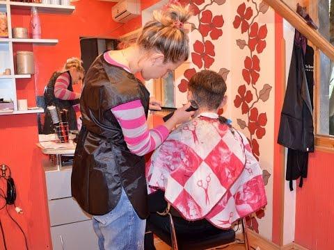 Haircut at the lady barber