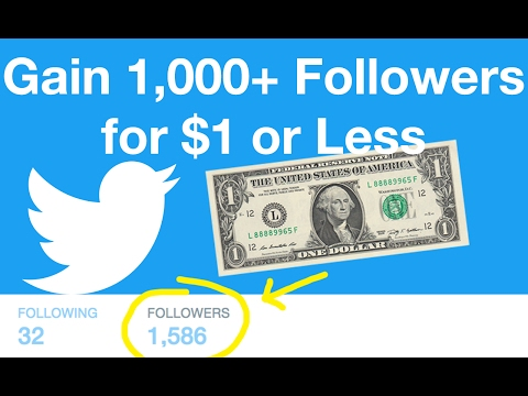CHEAPEST WAY TO GAIN TWITTER FOLLOWERS (Only $1) - LIVE EXAMPLE