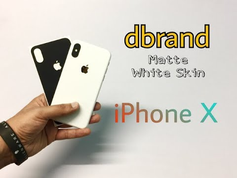 DBrand Matte White Skin For iPhone X Unboxing & Overview (INDIA)
