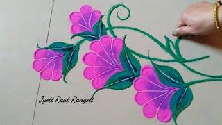 Beautiful and attractive rangoli design by Jyoti Raut Rangoli