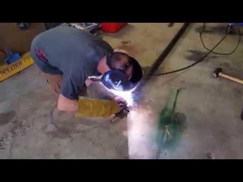 Trailer axle welding