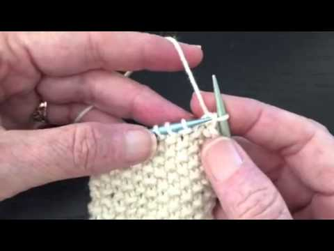 How to Bind Off in Pattern -  Seed Stitch