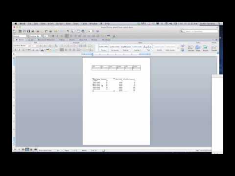 How to Edit a Word Document Based on the Excel Spreadsheet : Microsoft Excel Tips