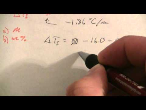 Concentration from Freezing Point Depression (1 of 2)