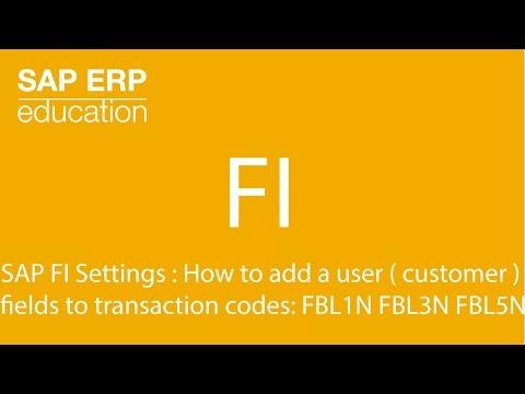 SAP FI Settings : How to add a user ( customer ) fields to transaction codes: FBL1N FBL5N FBL3N