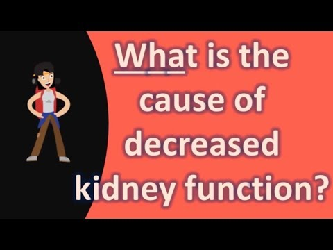 What is the cause of decreased kidney function ?