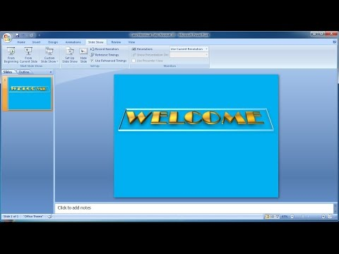 Powerpoint training |How to Make 3D text Brass Word Art in Powerpoint