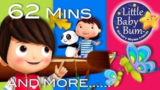 Row Row Row Your Boat | Part 3 | Plus More Nursery Rhymes | 62 Mins Compilation by LittleBabyBum!