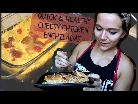 HEALTHY LOW CARB CHEESY CHICKEN ENCHILADAS