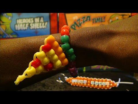 TurboBeads:TMNT Pizza Power Bead Bracelet Tutorial