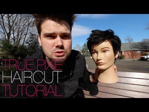 How To Cut A REAL PIXIE Haircut Tutorial - Womens Short Hair | MATT BECK VLOG 28 4-7-16